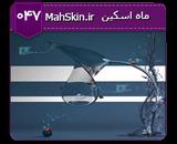 قالب وبلاگ عاشقانه چتر و باران