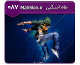 قالب وبلاگ گرافیکی رقص تکنو